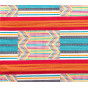 coupon 5,48m tissu africain wax multi