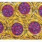 coupon 5,48m tissu africain wax jaune ronds