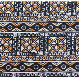 coupon 5,48m tissu africain wax ethnique