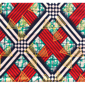 coupon 5,48m tissu africain wax brillant hélices