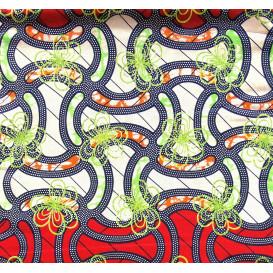 coupon 5,48m tissu africain wax brillant beans