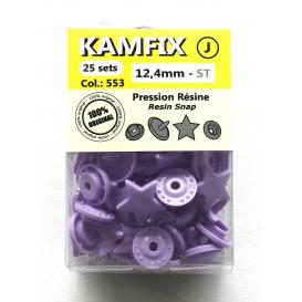 25 pressions résine KAM étoiles 12,4mm