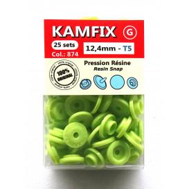 25 pressions résine KAM ronds T5 12,4mm