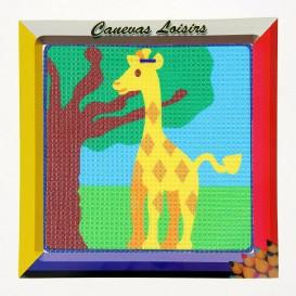 kit canevas enfant gros points girafe