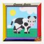 kit canevas enfant gros points vache