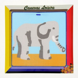 kit canevas enfant gros points éléphant