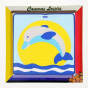 kit canevas enfant gros points dauphin soleil