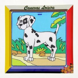 kit canevas enfant gros points chien dalmatien
