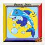 kit canevas enfant gros points dauphin bulles