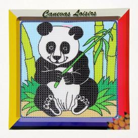 kit canevas enfant gros points panda