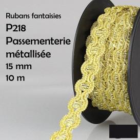 bobine 10m galon vague brillant 15mm