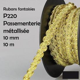 bobine 10m galon vague brillant 10mm