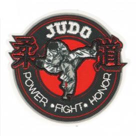 écusson judo power fight thermocollant