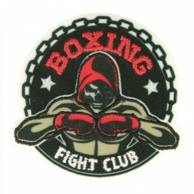 écusson boxing fight club thermocollant