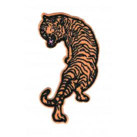 écusson tigre orange thermocollant