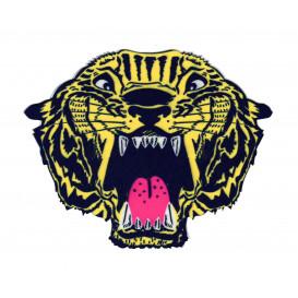 écusson tête de tigre 14cm thermocollant