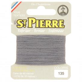 fils à repriser Saint Pierre gris foncé n°135