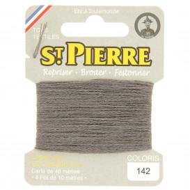 fils à repriser Saint Pierre gris plomb n°142