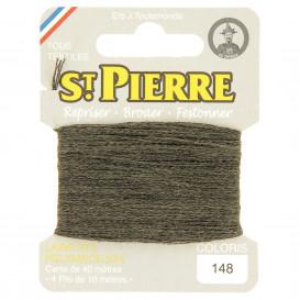 fils à repriser Saint Pierre gris souris n°148