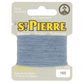 fils à repriser Saint Pierre bleu acier n°165