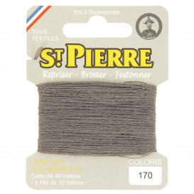 fils à repriser Saint Pierre gris cendre n°170