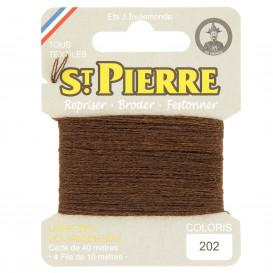 fils à repriser Saint Pierre marron cigare n°202