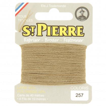 fils à repriser Saint Pierre beige clair n°257