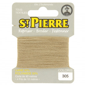 fils à repriser Saint Pierre beige automne n°305