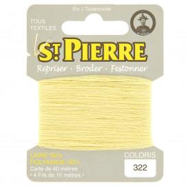 fils à repriser Saint Pierre jaune paille n°322