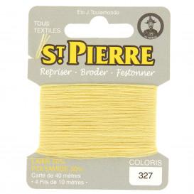 fils à repriser Saint Pierre jaune poussin n°327