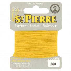 fils à repriser Saint Pierre jaune or n°360