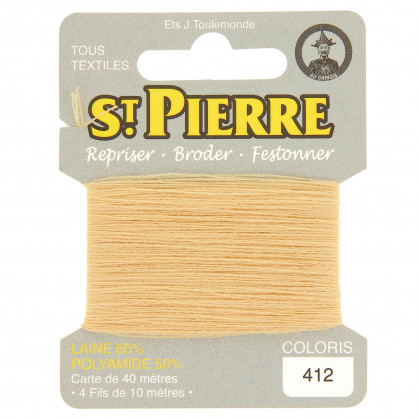 fils à repriser Saint Pierre abricot n°412