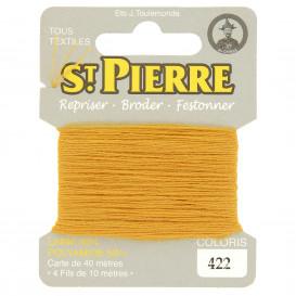 fils à repriser Saint Pierre jaune moutarde n°422