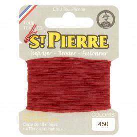 fils à repriser Saint Pierre rouge chaudron n°450