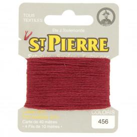 fils à repriser Saint Pierre rouge grenat n°456