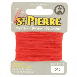 fils à repriser Saint Pierre corail n°510