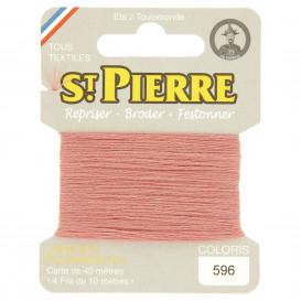 fils à repriser Saint Pierre rose balais n°596