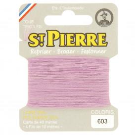 fils à repriser Saint Pierre lilas n°603