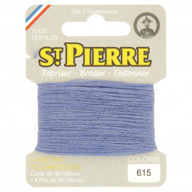 fils à repriser Saint Pierre bleu lupin n°615