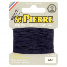 fils à repriser Saint Pierre bleu marine n°648