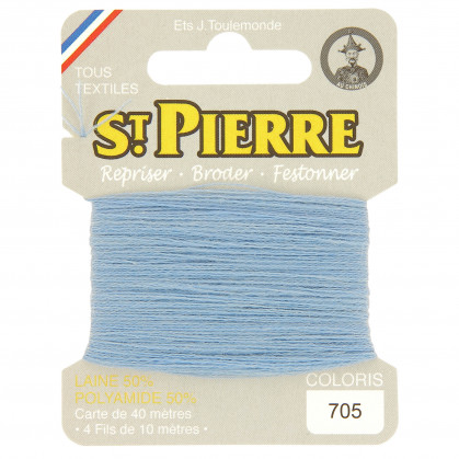 fils à repriser Saint Pierre bleu gobelin n°705