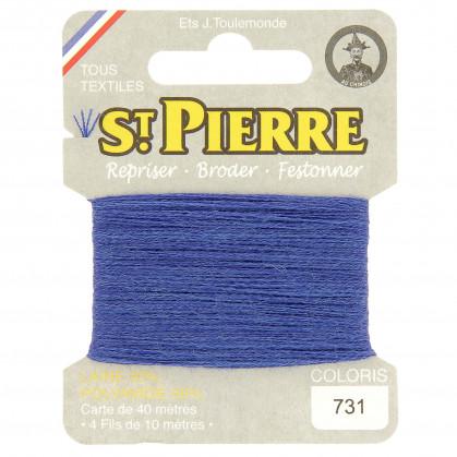 fils à repriser Saint Pierre bleu roi clair n°731