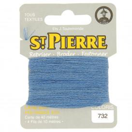 fils à repriser Saint Pierre bleu gitane n°732