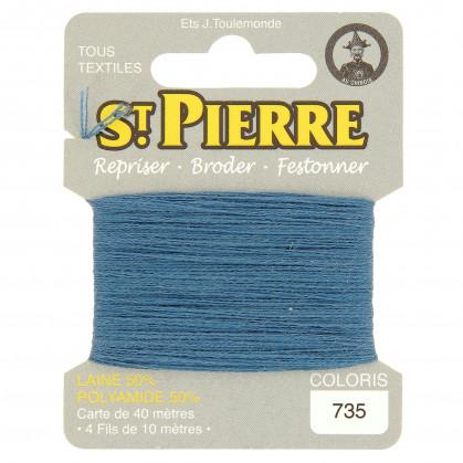 fils à repriser Saint Pierre bleu azur n°735