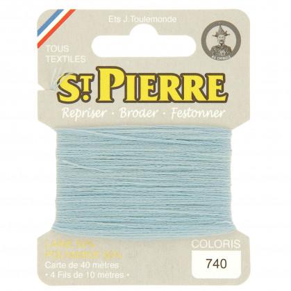 fils à repriser Saint Pierre bleu clair n°740