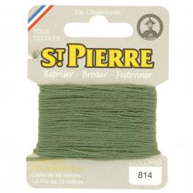 fils à repriser Saint Pierre vert shetland n°814