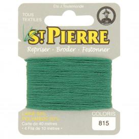 fils à repriser Saint Pierre vert amande n°815