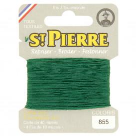 fils à repriser Saint Pierre vert malachite n°855