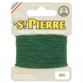 fils à repriser Saint Pierre vert mélèze n°880