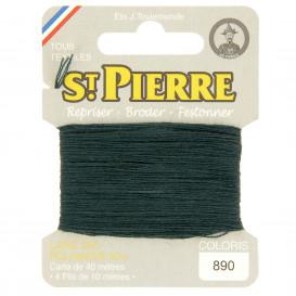 fils à repriser Saint Pierre vert platane n°890